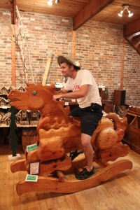 Chris Goofing Off in a Store in Maine