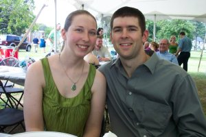 Chris and Jessica at a Family Wedding
