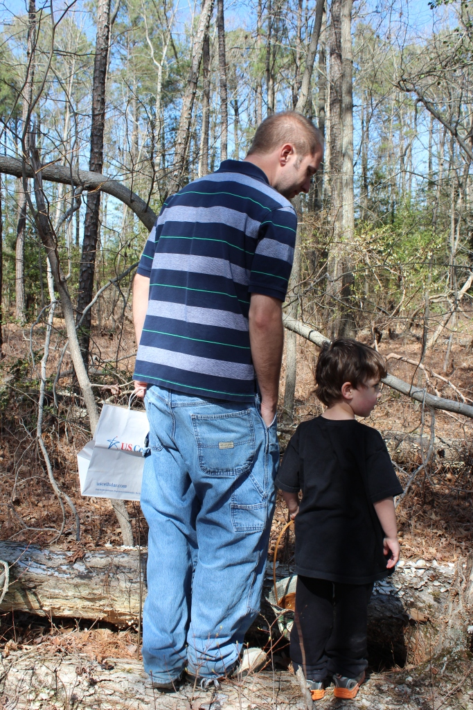 Nature Walk Time: Tim with his son, S.
