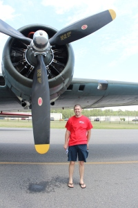 Chris posing with the plane. He can't wait to get inside :)