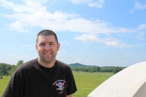Chris looking over Gettysburg.